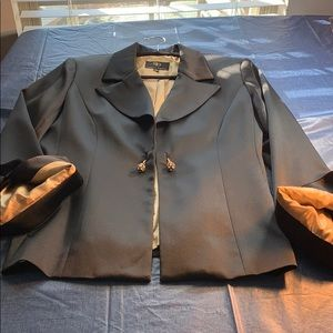 Women's evening jacket with gold lining.